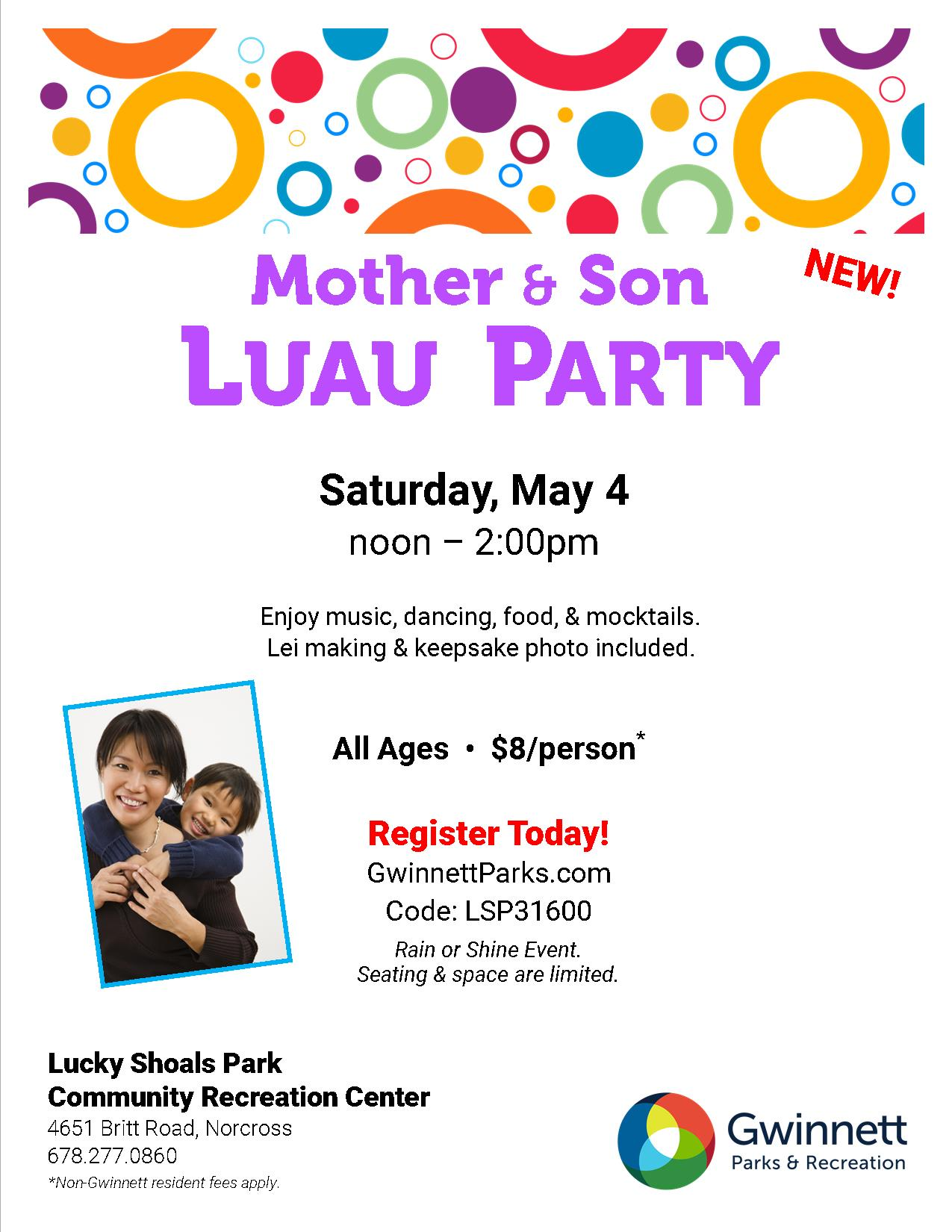 Mother & Son Luau Party